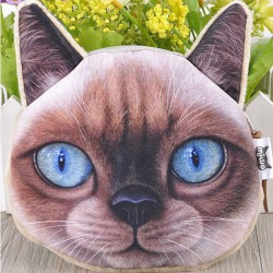 Porte-monnaie tête de chat...