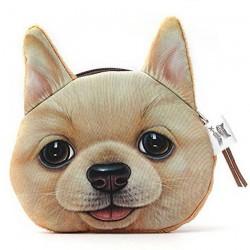 Porte-monnaie tête de chien...