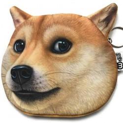 Porte-monnaie chien fauve 3D