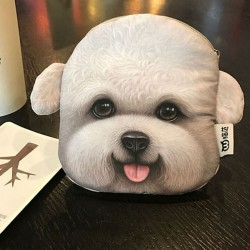 Porte monnaie tete de chien...