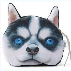 Porte-monnaie  chien  husky